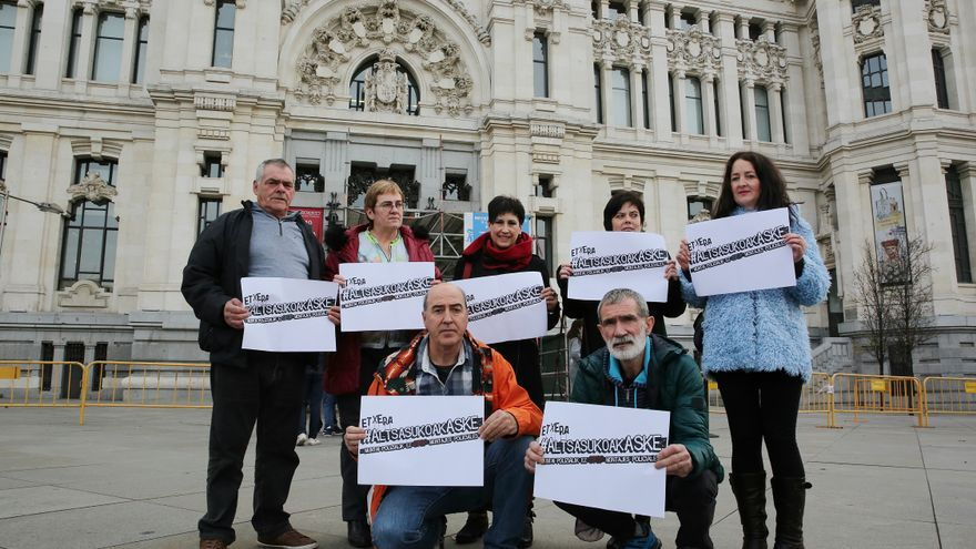 Los familiares de las personas imputadas de Alsasua, en Madrid.