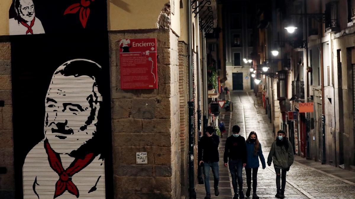 Calle estafeta de Pamplona. EFE/ Jesús Diges/Archivo