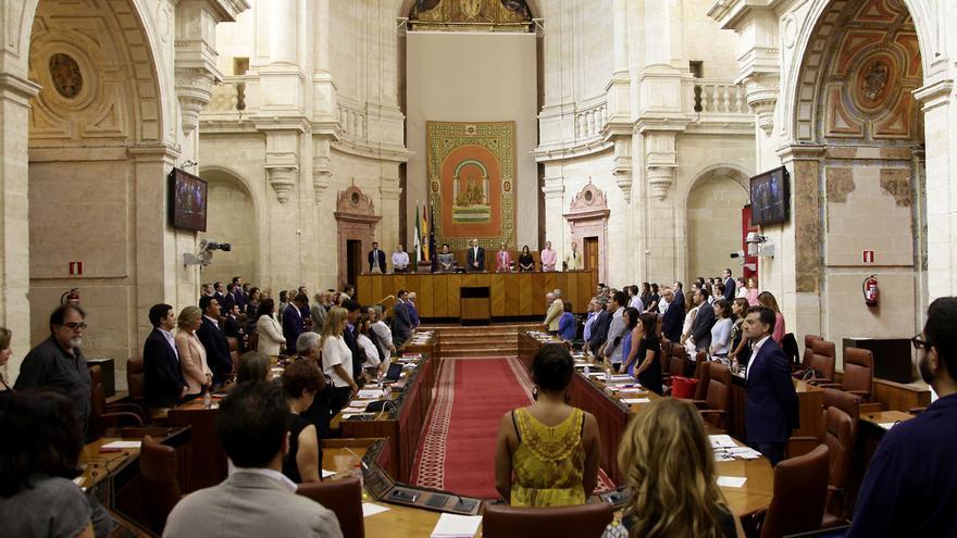 Pleno de septiembre de 2015 del Parlamento de Andalucía.