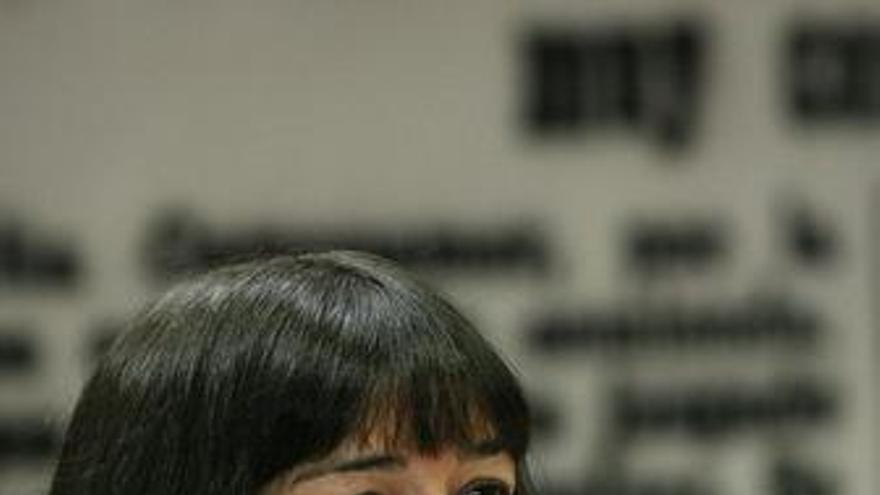 La ministra de Cultura, Ángeles González-Sinde, comparece en el Senado