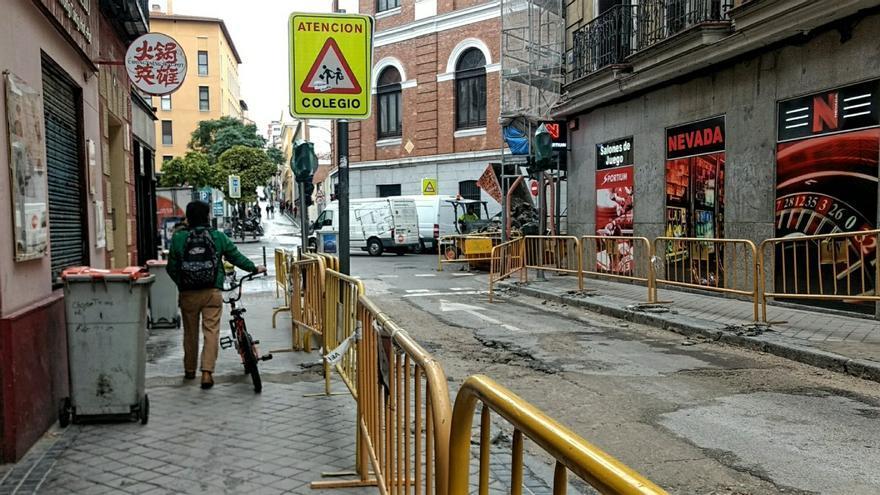 Obras en la calle Álamo | SOMOS MALASAÑA