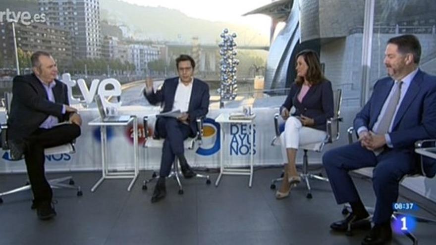 Alberto Surio, Sergio Martín, Edurne Uriarte y Bieito Rubido, en Los Desayunos