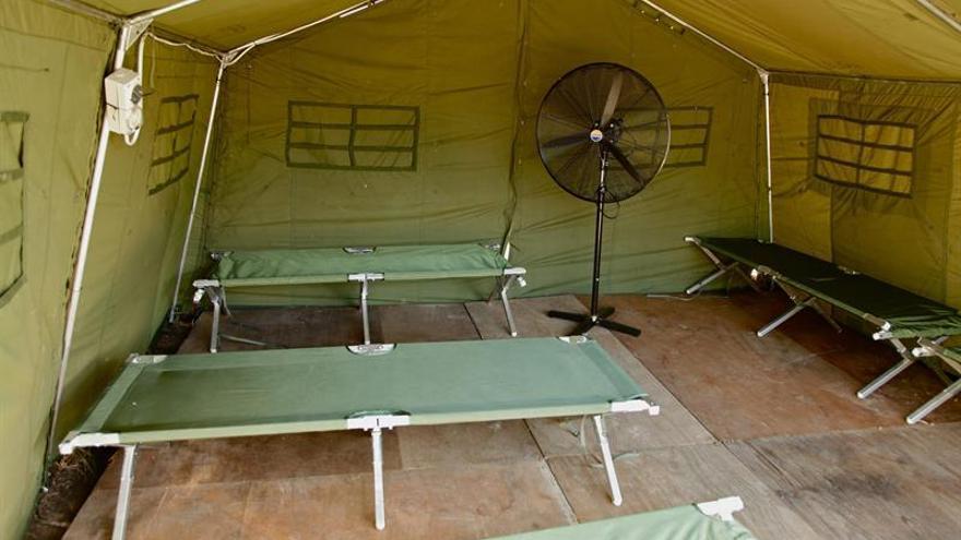 Tienda de campaña para personas que buscan asilo en la isla de Manus, en Papúa Nueva Guinea