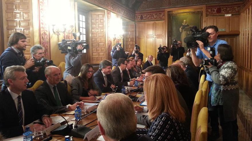 Imagen de la reunión de la sectorial de Justicia en Madrid este jueves.