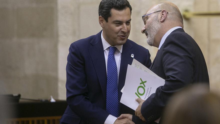 """Moreno agradece a Vox su apoyo al presupuesto con un acuerdo de """"largo recorrido"""" fruto del """"triunfo del diálogo"""""""