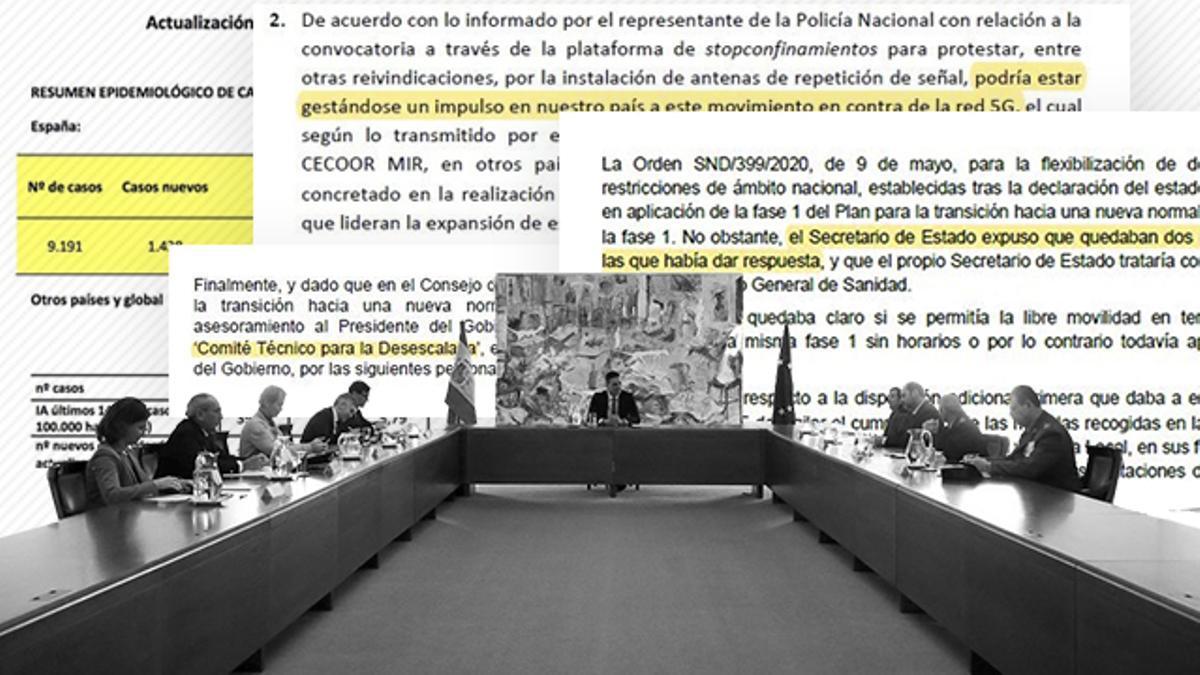 Las actas de la pandemia en Moncloa