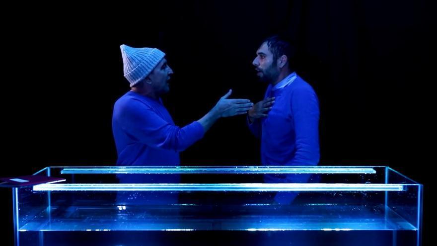 Escena de la obra teatral 'Nautilius', de la compañía La Negra.
