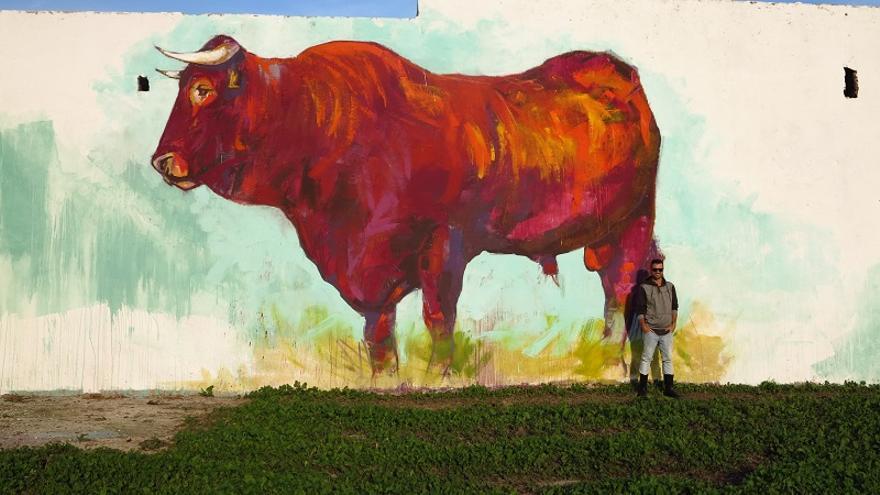 39 retintas 39 un mural gigante que se funde con la for Mural nuestra carne