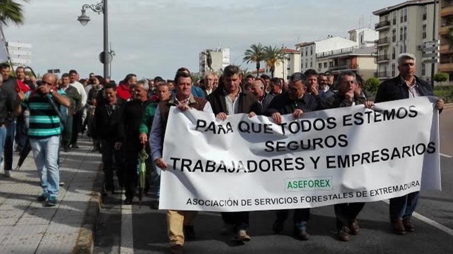 Protesta por las calles de Mérida