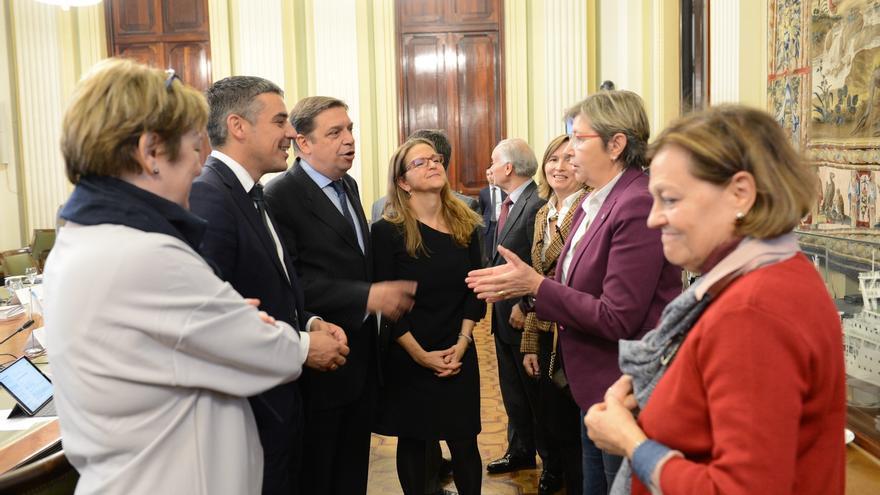 Narvay Quintero, en la reunión del Consejo Consultivo Agrícola de este martes en Madrid, junto al ministro Planas