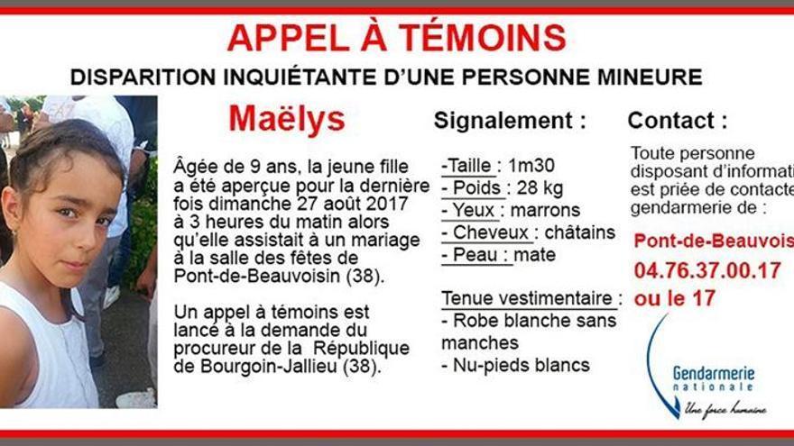 Registran la casa del imputado por la desaparición de una niña en Francia