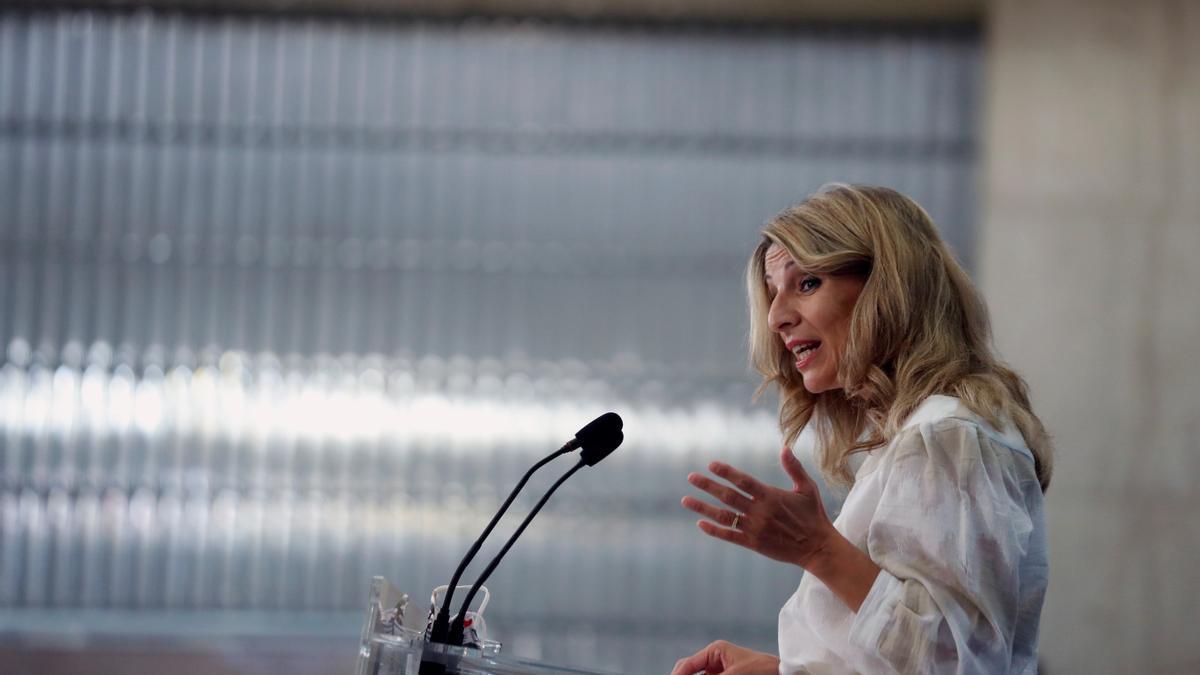 La vicepresidenta tercera y ministra de Trabajo y Economía Social, Yolanda Díaz. EFE/ Emilio Naranjo/Archivo
