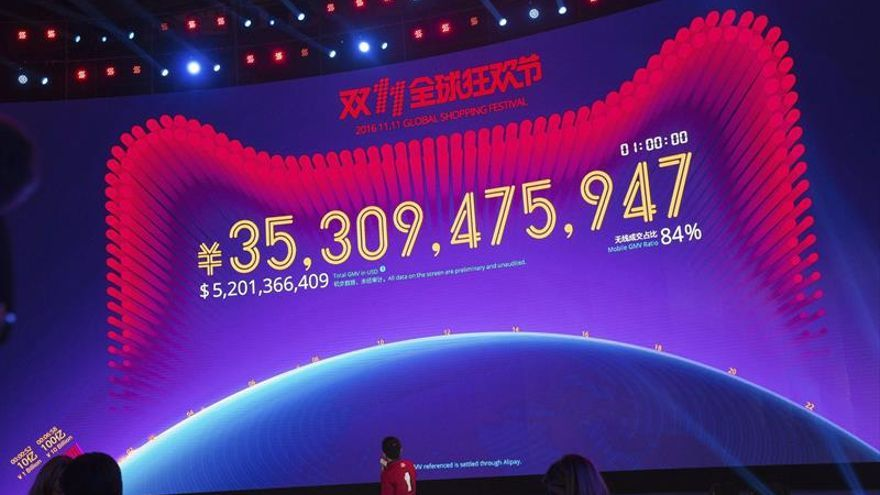 Alibaba consigue un nuevo récord comercial en el Día del Soltero