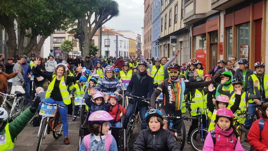 Momento de la experiencia de este miércoles en el centro de Aguere