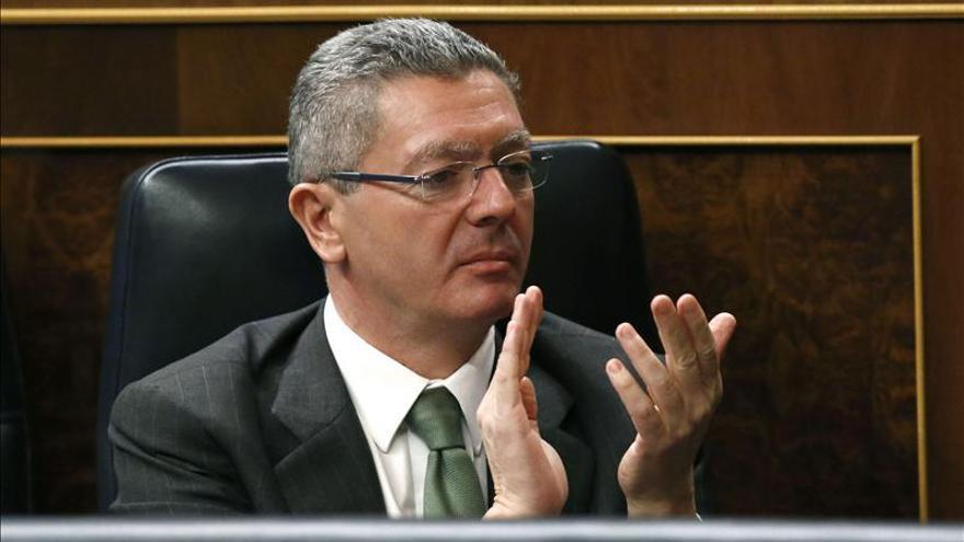 Gallardón dice que los presupuestos garantizan el servicio público de la justicia
