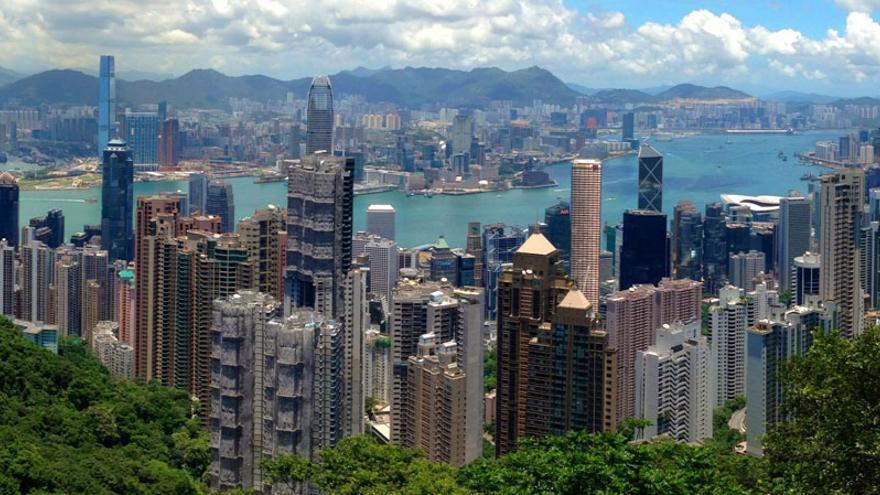 Panorámica de la ciudad china de Hong Kong.