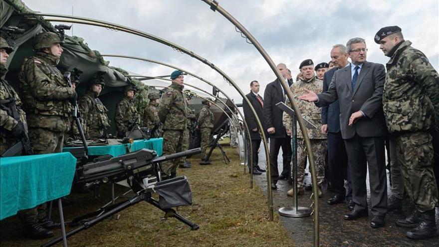 La OTAN realiza en Polonia maniobras ante un ataque enemigo simulado