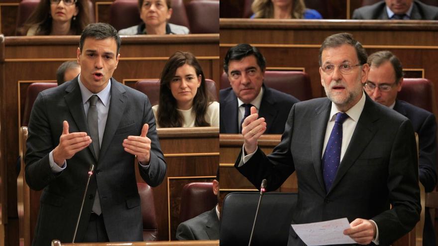 """AV. - Rajoy recrimina a Sánchez que quiera """"cargarse"""" en artículo 135 y dice que el PSOE """"estaba mejor con Rubalcaba"""""""