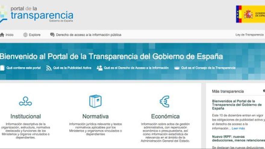Captura de pantalla del Portal de Transparencia.