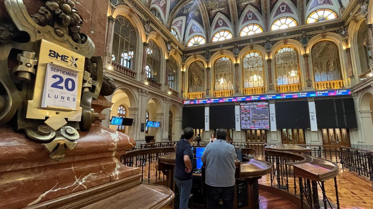 Interior de la Bolsa de Madrid, esta semana. EFE/Ana Bornay