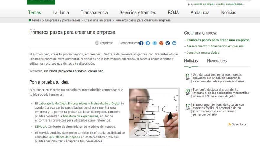 Guía para crear una empresa en Andalucía.
