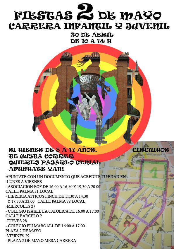 Cartel oficial de la carrera infantil