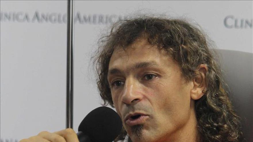 Cecilio López tras su regreso a Madrid.
