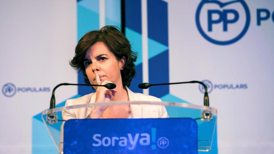 Soraya Sáenz de Santamaría, candidata a presidir el PP.