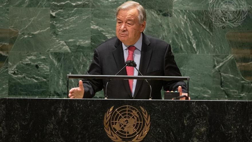 El secretario general de la ONU, António Guterres, en la apertura de la Asamblea General