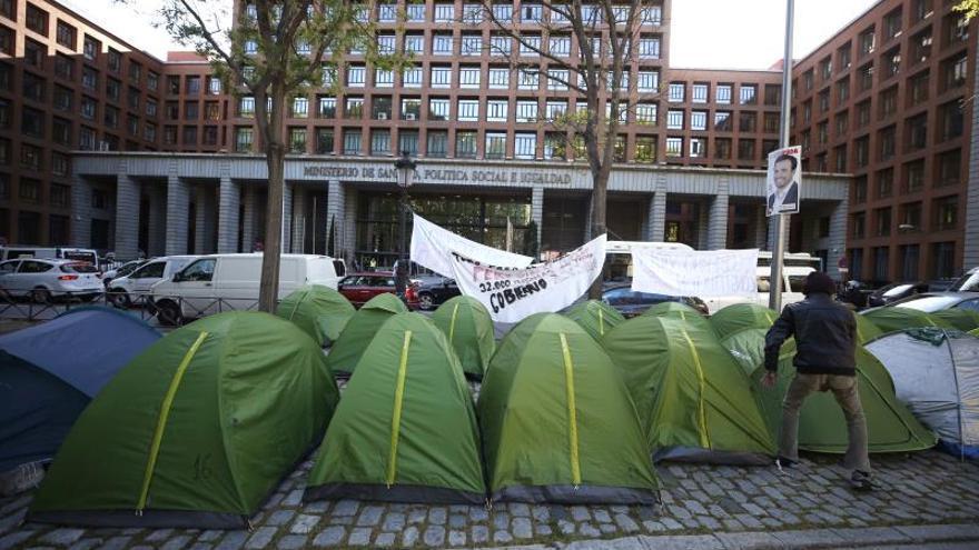 Diez días de acampada en Madrid para que no se deje a nadie sin hogar