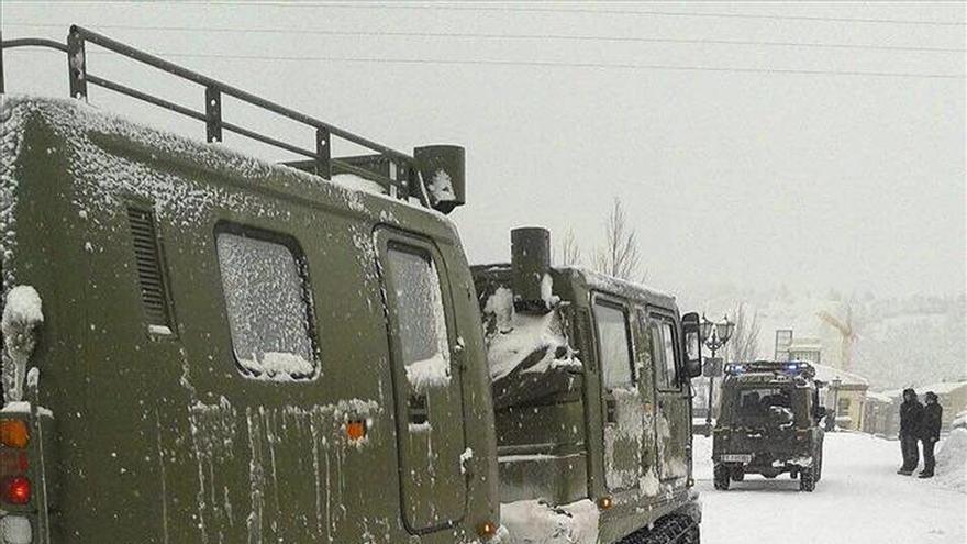 La UME despliega 223 militares y 95 vehículos en Aguilar de Campoo y Villablino
