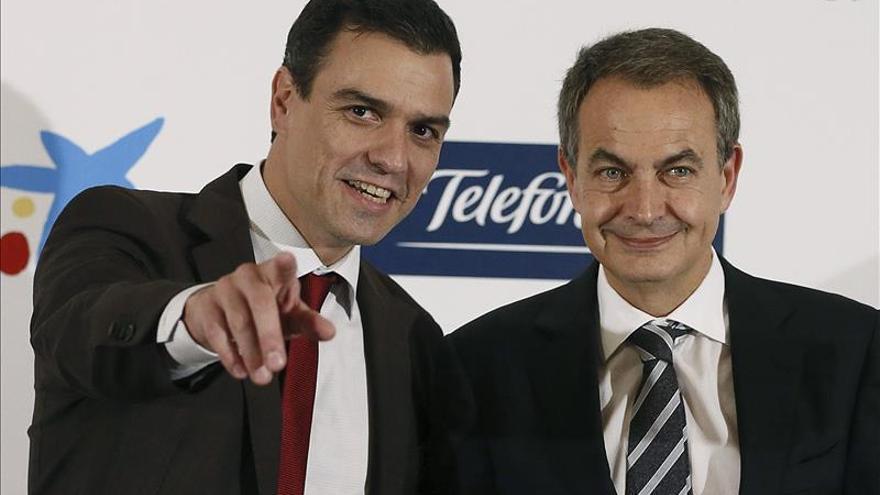 Sánchez y Zapatero coincidieron en un acto y evitaron saludarse en público / EFE