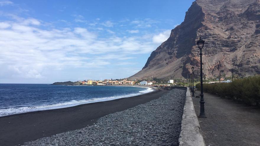 Playa en Valle Gran Rey, La Gomera, en el primer día de la isla en Fase 3
