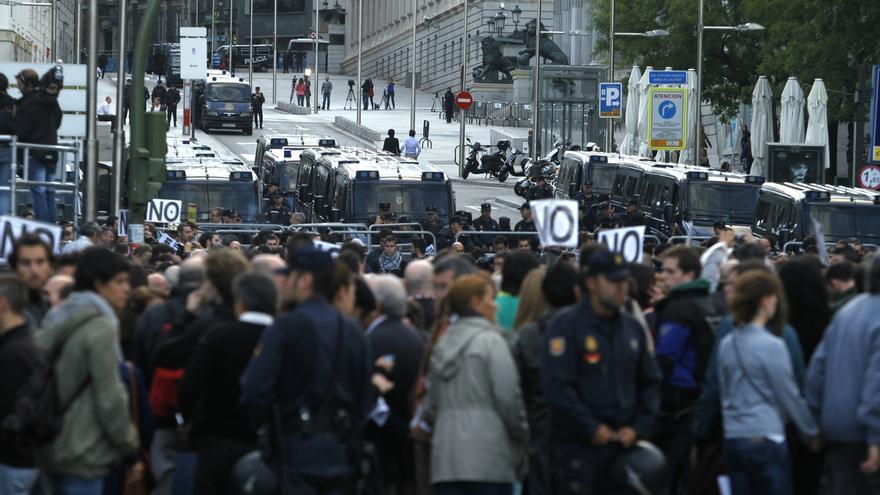 La coordinadora 25S vuelve este sábado a los alrededores del Congreso con una protesta contra la monarquía