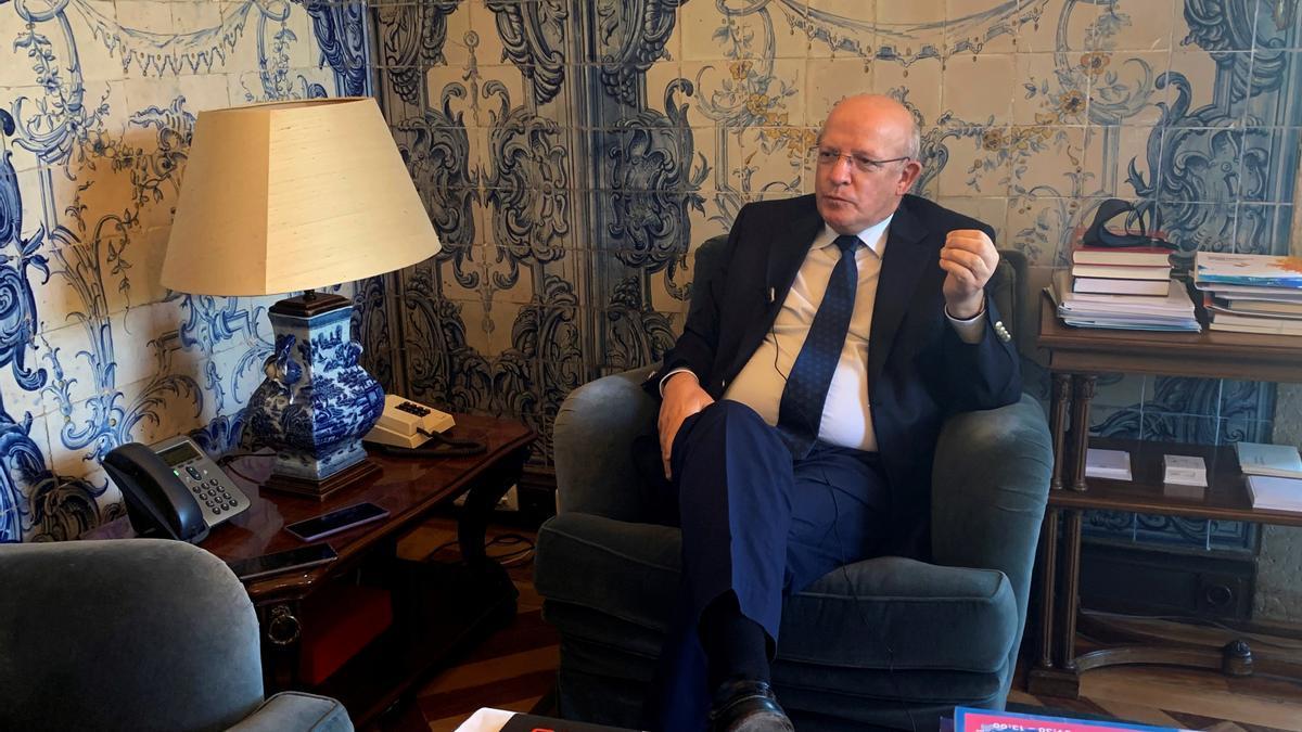 El ministro de Asuntos Exteriores de Portugal, Augusto Santos Silva, este lunes en Lisboa