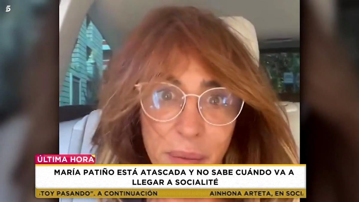 María Patiño, atrapada en el atasco