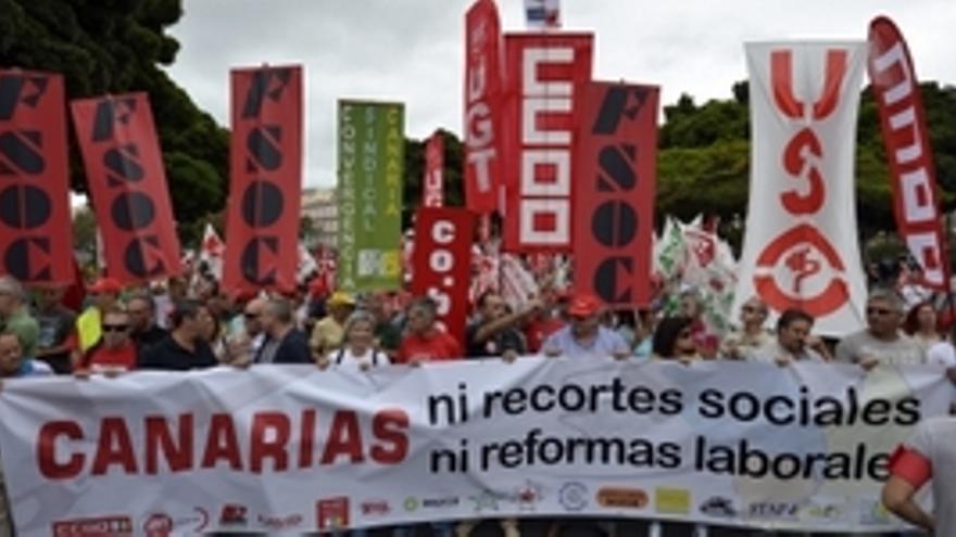 Manifestación en Las Palmas de Gran Canaria. (ACFI PRESS)