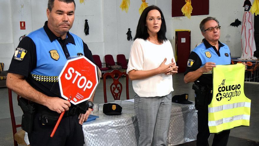 Zaida González, concejala santacrucera encargada de Tráfico, en la cita de este jueves