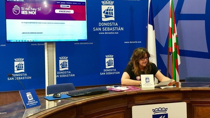 Ayuntamiento de San Sebastián pone en marcha la campaña 'Si no hay sí ¡es no¡' contra las agresiones machistas
