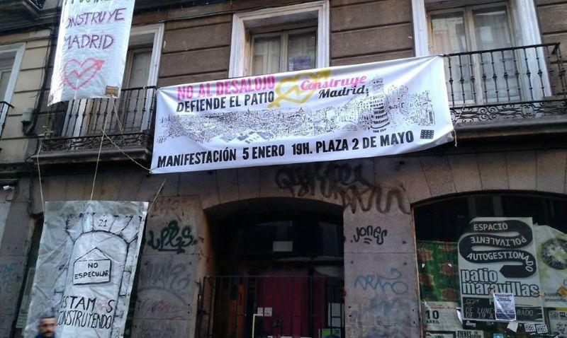 Pancarta preparada para la manifestación del día 5