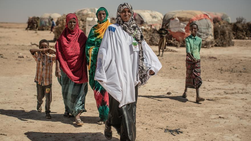 Asia Abdelaiz es promotora de salud en la comunidad de Docoloha. Foto: Pablo Tosco / Oxfam Intermón