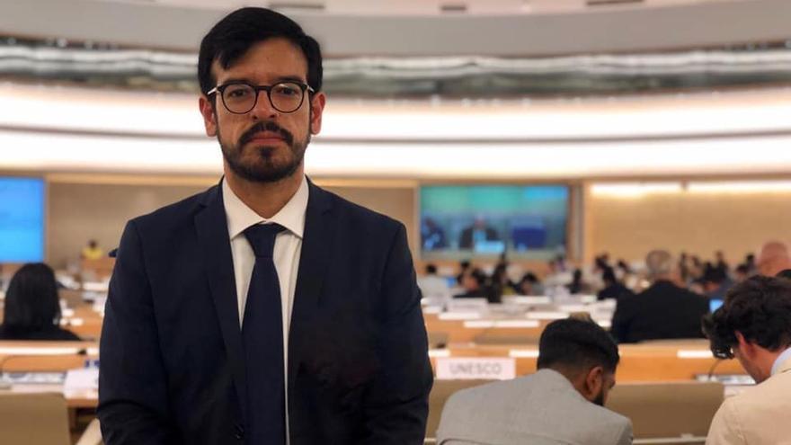 El diputado venezolano, Miguel Pizarro, en la ONU.