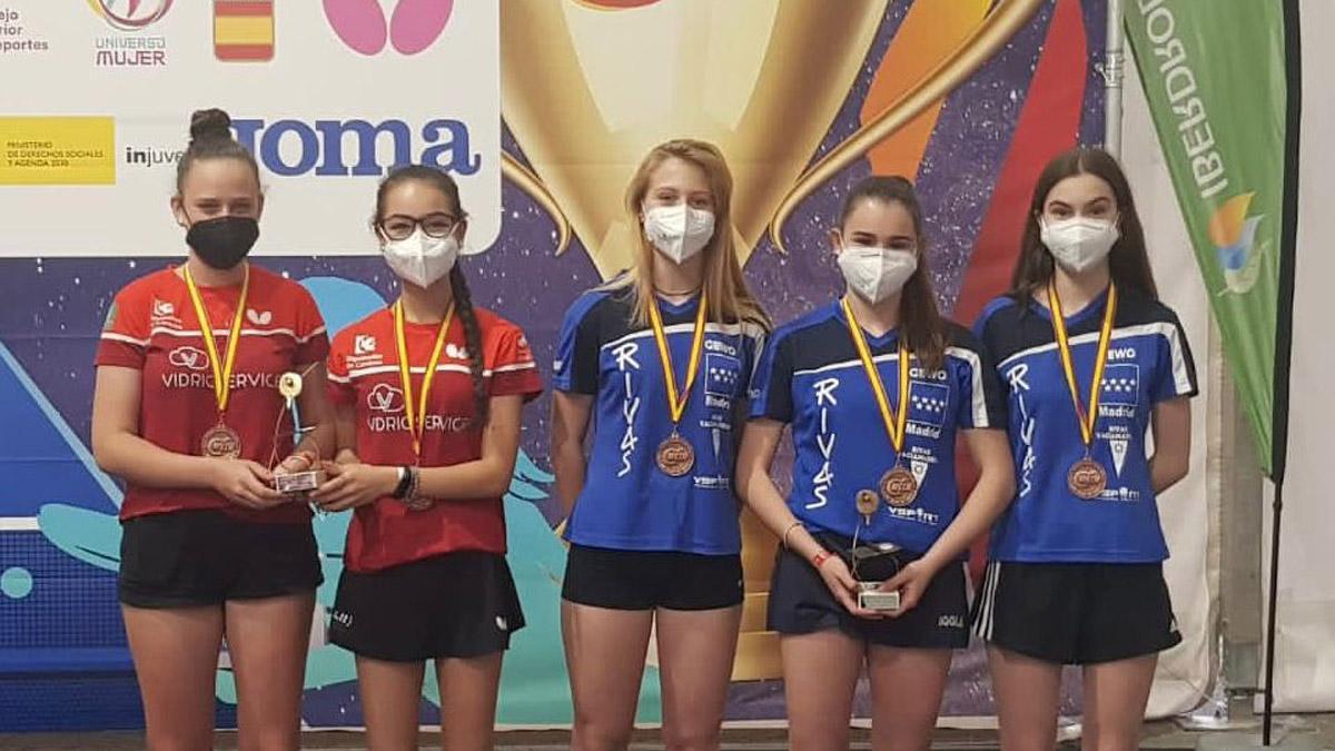 Lucía López y Lorena Gil, en el Campeonato de España juvenil