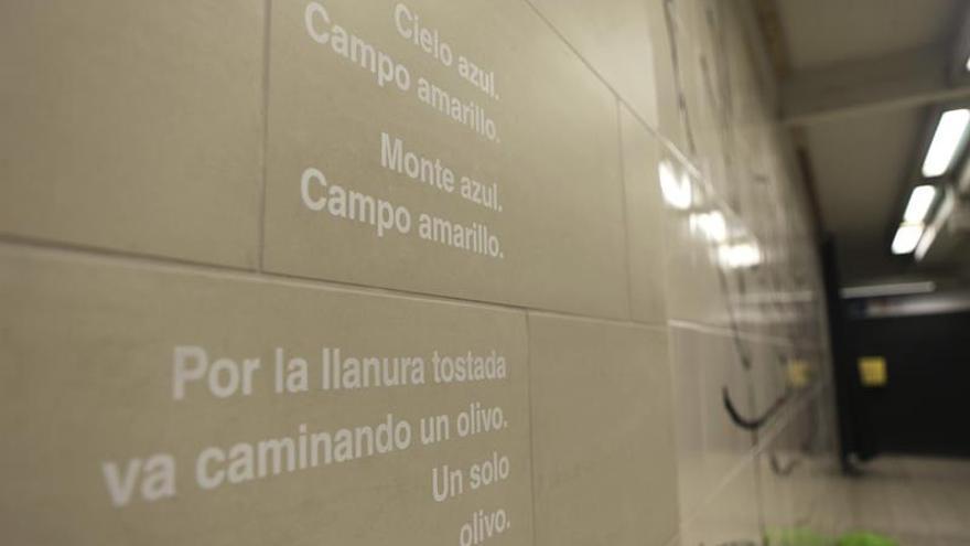 Un mural con un poema de Lorca homenajea a las víctimas de los atentados en Bruselas