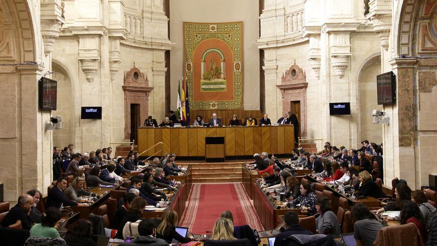 Parlamento de Andalucía en pleno de marzo de 2018.