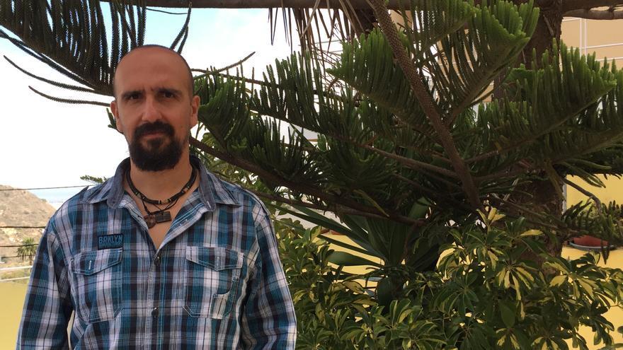 Luis Falcón en la entrevista concedida a Canarias Ahora (IAGO OTERO PAZ)