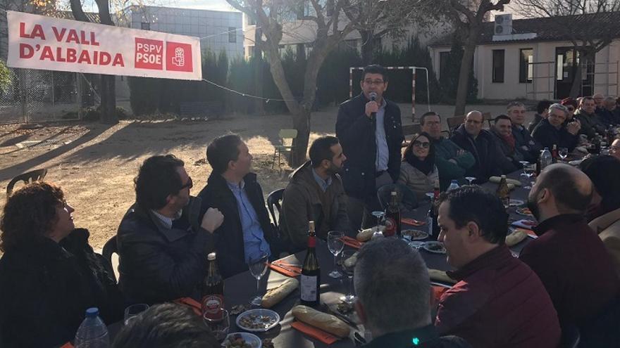 Imagen del acto del PSPV con Jorge Rodríguez