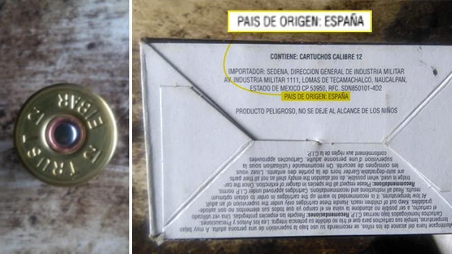 Cartuchos españoles importados vía México, en una imagen enviada por el militar en el exilio Roberto Samcam.