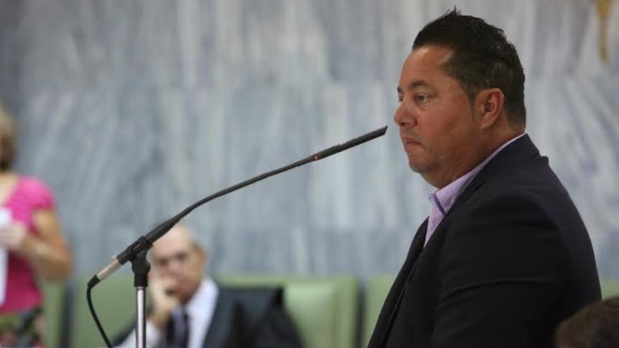 Marcelino Umpiérrez, en su declaración ante el TSJC. (ALEJANDRO RAMOS)