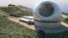 Recreación del TMT en las cumbres de Puntagorda. Imagen: Documento Inicial del proyecto TMT.